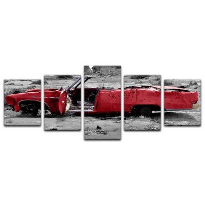 Leinwandbild - Cadillac - rot – Bild 11
