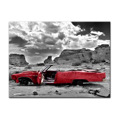 Leinwandbild - Cadillac - rot – Bild 2