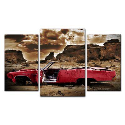 Leinwandbild - Cadillac - rot sepia – Bild 8
