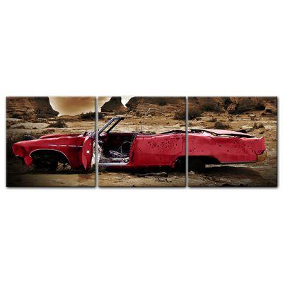 Leinwandbild - Cadillac - rot sepia – Bild 4