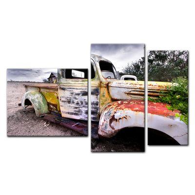 Leinwandbild - Alter rustikaler Truck – Bild 14