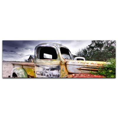 Leinwandbild - Alter rustikaler Truck – Bild 9
