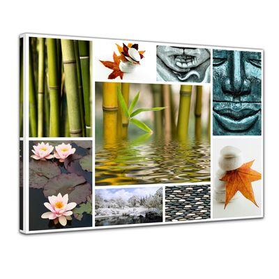 Leinwandbild - Buddha Collage – Bild 1