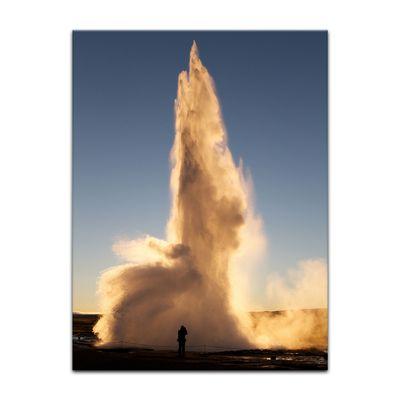 Leinwandbild - Geysir – Bild 4