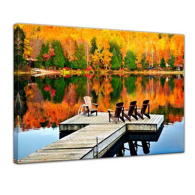 Leinwandbild - Herbstlandschaft – Bild 1