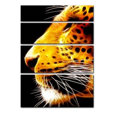 Leinwandbild - Leopard Neon – Bild 11
