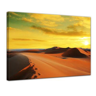 Leinwandbild - Sahara - Wüste in Afrika II – Bild 1