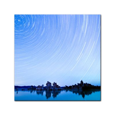Leinwandbild - Star Trails over Mono Lake – Bild 2