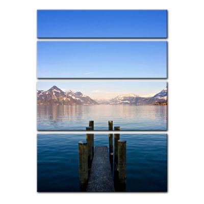 Leinwandbild - Steg am Bergsee – Bild 12