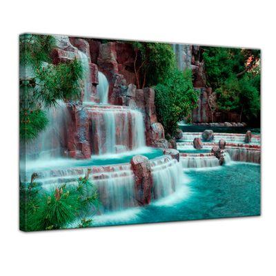 Leinwandbild - Wasserfall vor dem Wynn Hotel - Las Vegas – Bild 1