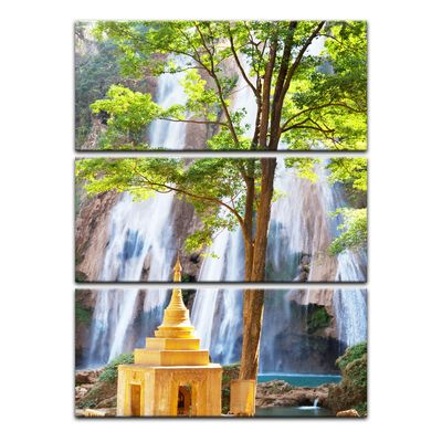 Leinwandbild - Waterfall in Myanmar – Bild 6