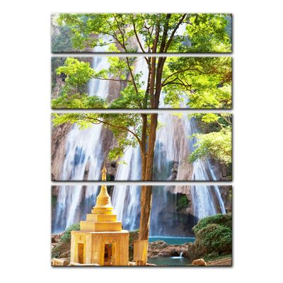 Leinwandbild - Waterfall in Myanmar – Bild 7
