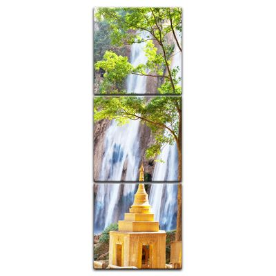 Leinwandbild - Waterfall in Myanmar – Bild 5