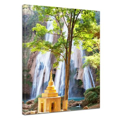 Leinwandbild - Waterfall in Myanmar