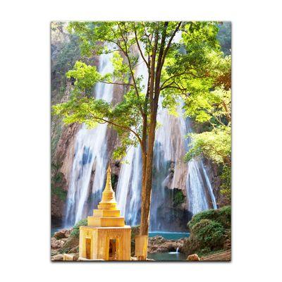 Leinwandbild - Waterfall in Myanmar – Bild 3