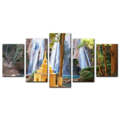 Leinwandbild - Waterfall in Myanmar – Bild 8