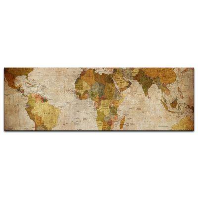 Leinwandbild - Weltkarte retro  – Bild 6