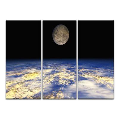 Leinwandbild - Erde und Mond – Bild 8