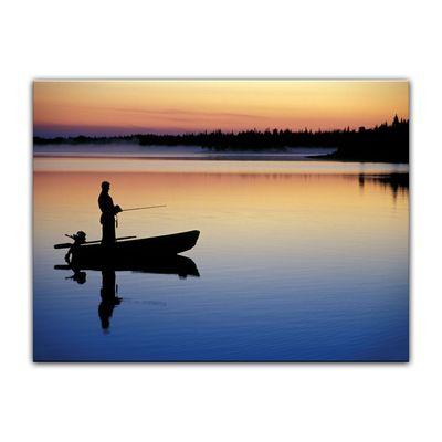 Leinwandbild - Angler in Norwegen – Bild 3