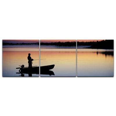 Leinwandbild - Angler in Norwegen – Bild 8