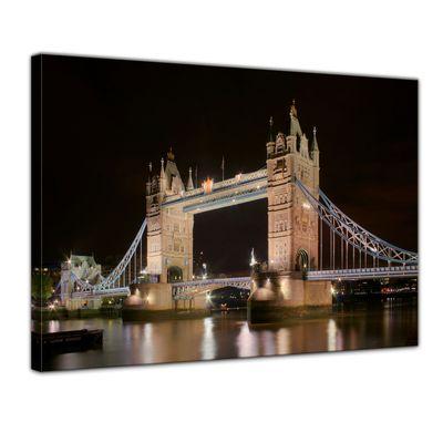 Leinwandbild - London Tower Bridge bei Nacht