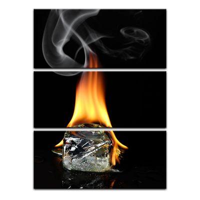 Leinwandbild - Brennender Eiswürfel  – Bild 3