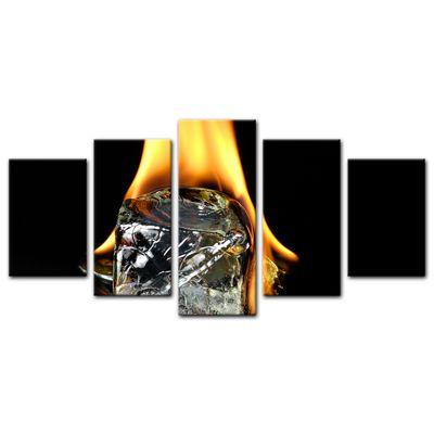 Leinwandbild - Brennender Eiswürfel  – Bild 12