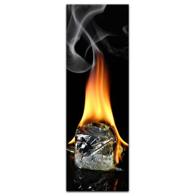 Leinwandbild - Brennender Eiswürfel  – Bild 11