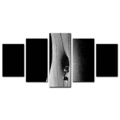 Leinwandbild - Frau Erotik - schwarz weiß – Bild 17