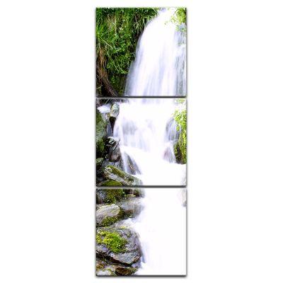 Leinwandbild - Kleiner Wasserfall – Bild 9