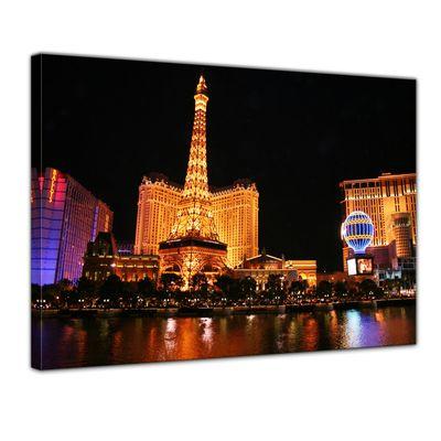 Leinwandbild - Abend in Las Vegas – Bild 1