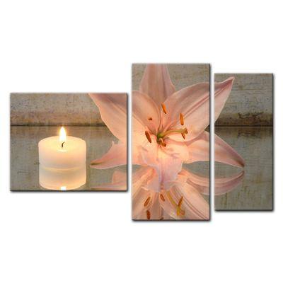 Leinwandbild - Lilie und Kerze – Bild 11