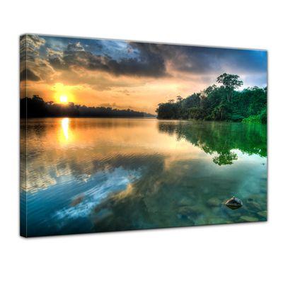 Leinwandbild - Morgenreflektion – Bild 1