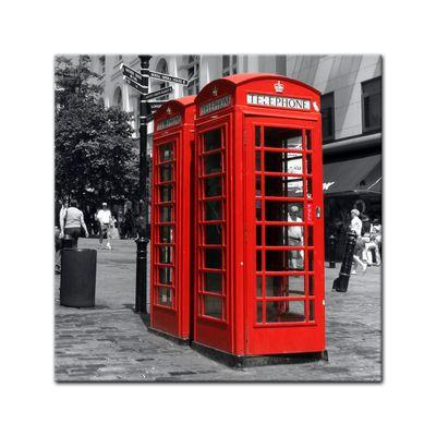 Leinwandbild - Rote Telefonzelle in London – Bild 2