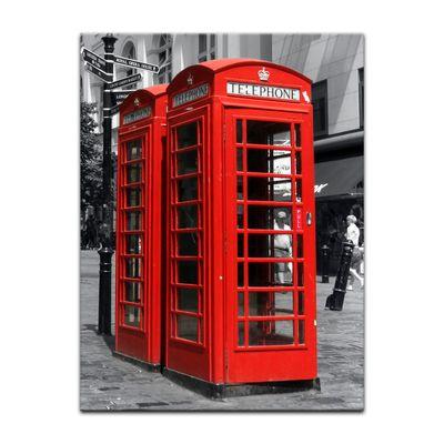 Leinwandbild - Rote Telefonzelle in London – Bild 4