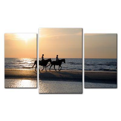 Leinwandbild - Reiter im Sonnenuntergang – Bild 12