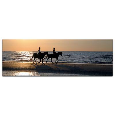 Leinwandbild - Reiter im Sonnenuntergang – Bild 6