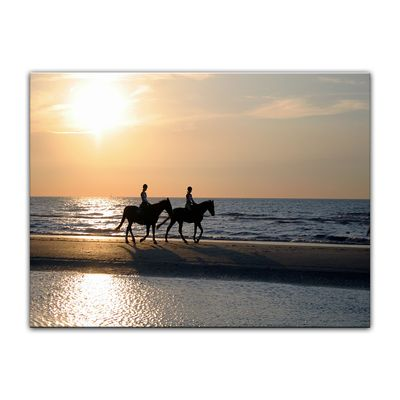 Leinwandbild - Reiter im Sonnenuntergang – Bild 5