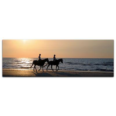Leinwandbild - Reiter im Sonnenuntergang – Bild 7