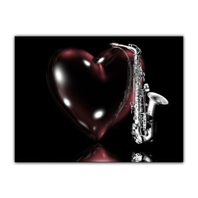 Leinwandbild - Saxophon mit Herz  – Bild 4