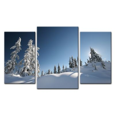 Leinwandbild - Schneelandschaft – Bild 12