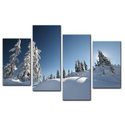 Leinwandbild - Schneelandschaft – Bild 13