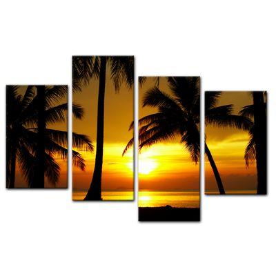 Leinwandbild - Sonnenuntergang in der Nähe des Äquators – Bild 13