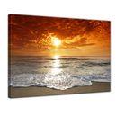 Leinwandbild - Sonnenuntergang in Korsika 001