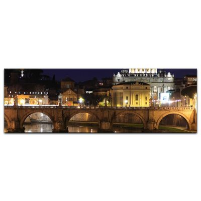 Leinwandbild - Vatican at Night from Ponte Umberto Uno – Bild 7