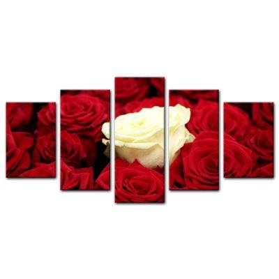 Leinwandbild - Weiße Rose – Bild 12