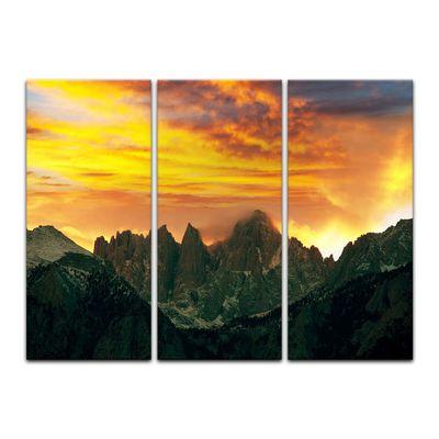 Leinwandbild - Berglandschaft im Sonnenuntergang – Bild 8