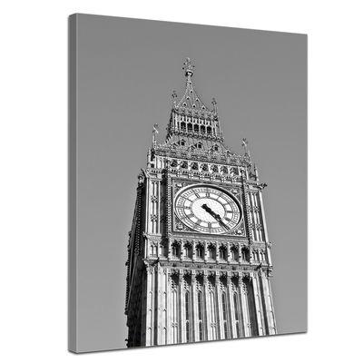 Leinwandbild - Big Ben sw – Bild 1