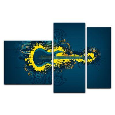 Leinwandbild - E-Gitarre Illustration - gelb  – Bild 13