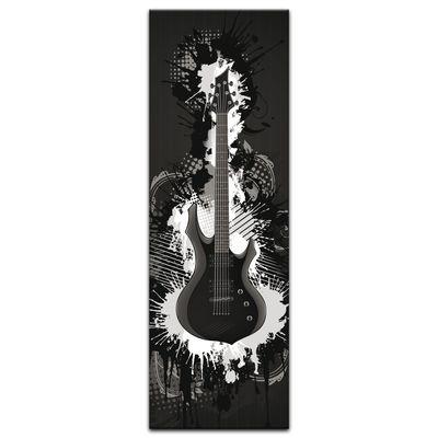 Leinwandbild - E-Gitarre Illustration - sw  – Bild 6
